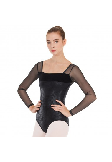 Adult Dimensional Mesh Sleeve Leotard