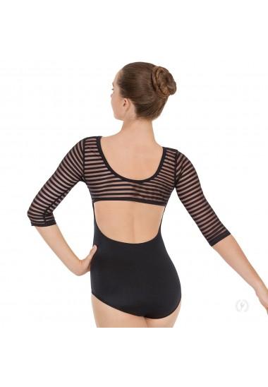 Womens Striped Mesh 3/4