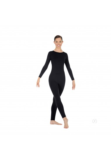 Zipper-Back Long Sleeve Unitard
