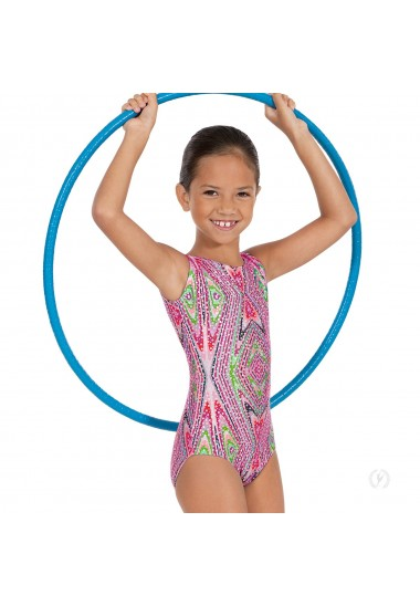 Child Kaleidoscope Print Gymnastics Tank Leotard