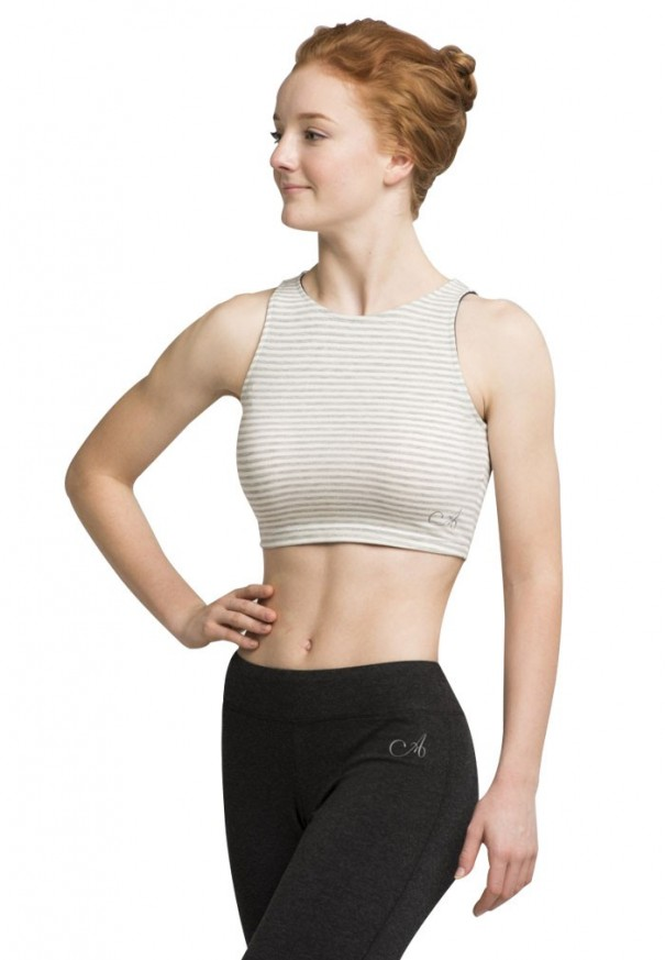 Sleeveless Crop Top in Jersey