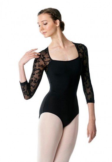 Leotard Albertine Flower Mesh