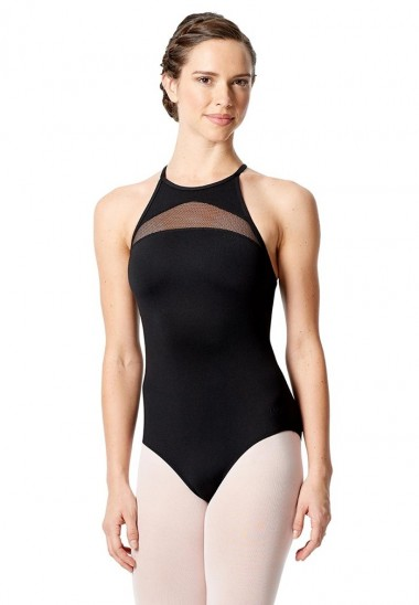Hich Tactel High Neck Halter Leotard Fabiana