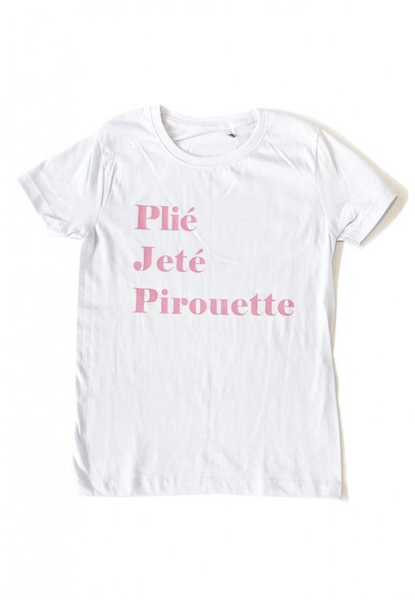 Camiseta Plie Jete Pirouette